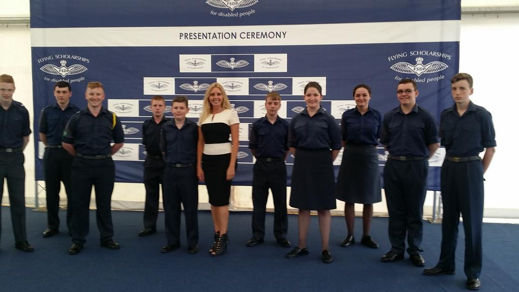 With @aircadets at Flying Scholarships for disabled people @airtattoo.. http://t.co/M9FP4wJUPc