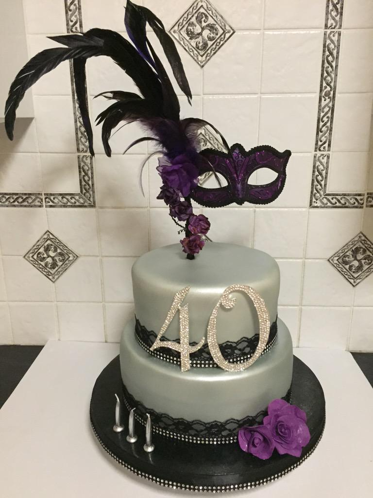 Wondrous Mons Delights On Twitter This Cake Was For A Masquerade Themed Funny Birthday Cards Online Alyptdamsfinfo