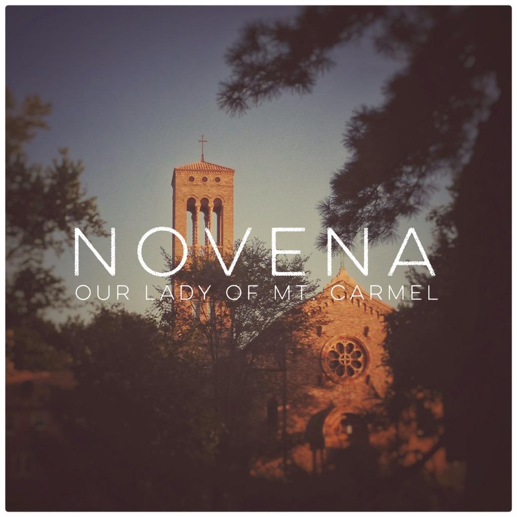 The name Carmel means garden? Nice to have the #novena in this one. http://t.co/pJtu0hXIrK