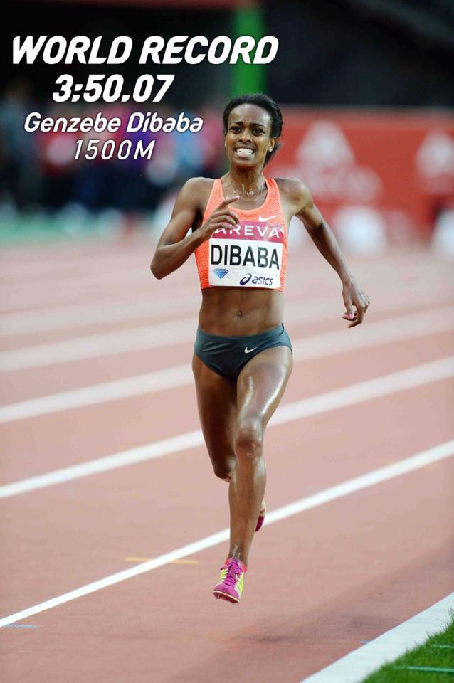 Congratulations to #Ethiopia's @GenzebeDibaba for breaking the women track 1500m world record #DiamondLeague #Monaco http://t.co/BsfEMqicXZ