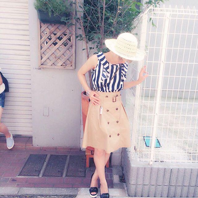 春コーデの即戦力☆ トレンチスカートが大人かわいい