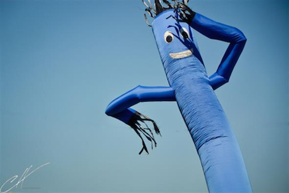 Wacky waving inflatable arm flailing tube man hookup