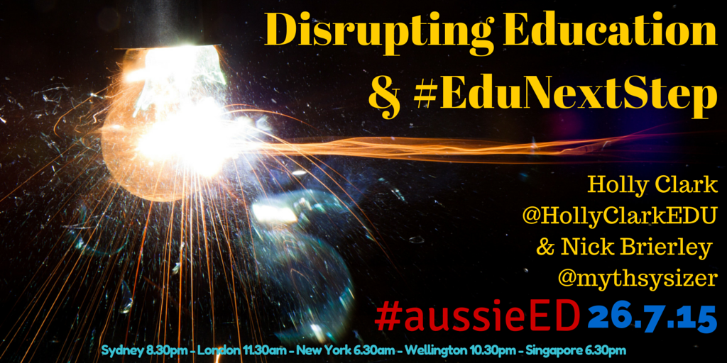 "Welcome to #aussieED: Disrupting Education! Introduce yourself and complete the sentence: ""Change is…"" http://t.co/I84Z9urBQJ"