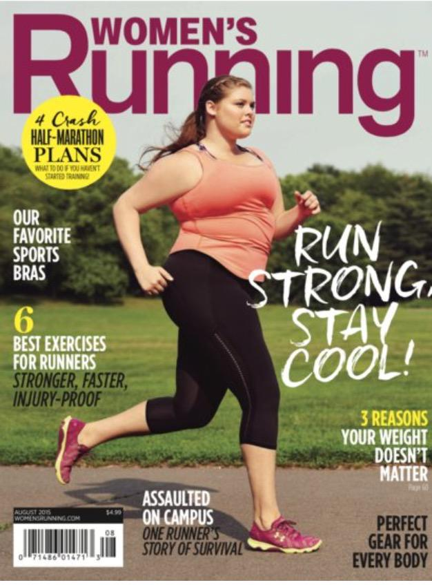 Good on @WomensRunning mag for their front cover. You don't have to be a size 0 to go running. http://t.co/21dS9mrPBo http://t.co/B2kV17E0uh
