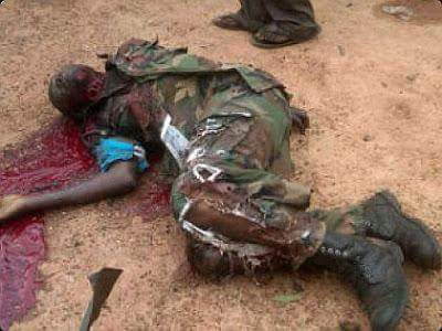 Troops on clearance operations on suspected Boko Haram terrorists hideouts were ambushed by suspected Boko Haram terrorists killing 5 soldiers, 4 ors
