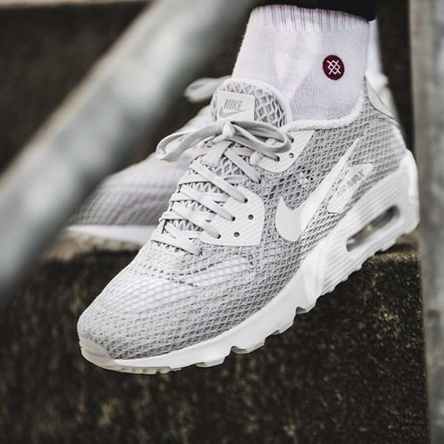 8a6caf4e2b Nike Air Max 90 Ultra BR Plus Wolf Grey. Popular in the UK and Europe.  http://thesolesupplier.co.uk/products/nike-air-max-90-ultra-br-plus-qs-pure- platinum/ ...