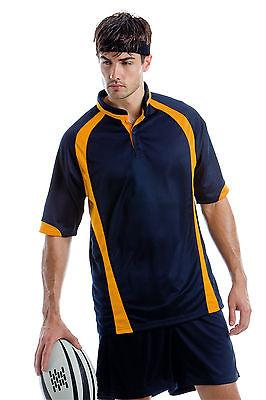 Gents Rugby Shirt KK994 Mens Gamegear Cooltex Rugby Top by Kustom Kit
