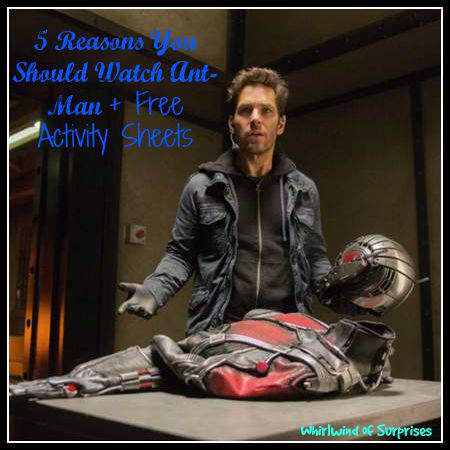 5 Reasons you should watch #Antman, free Ant Man activity and colouring sheets