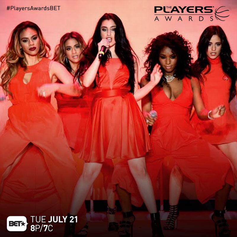 .@FifthHarmony will be hitting the stage at the first annual @TheNBPA #PlayersAwardsBET this TUES 8P|7c!!! http://t.co/41yBUqFD9T