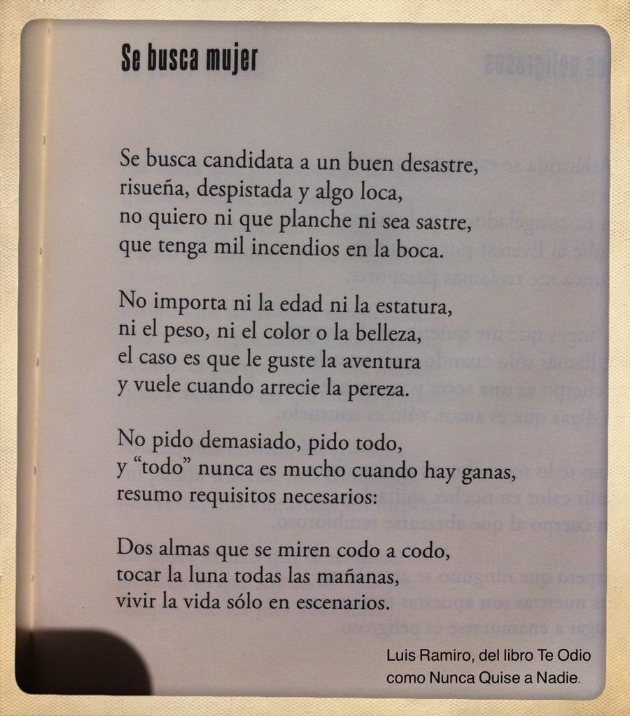 Luis Ramiro Auf Twitter Se Busca Mujer Httptcoa6rrnsdmbq