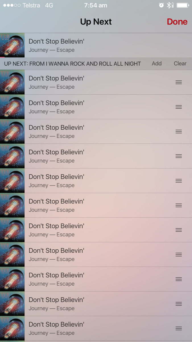 I'll never stop believing…   wtf, Apple Music?! http://t.co/dizGnHpkqI