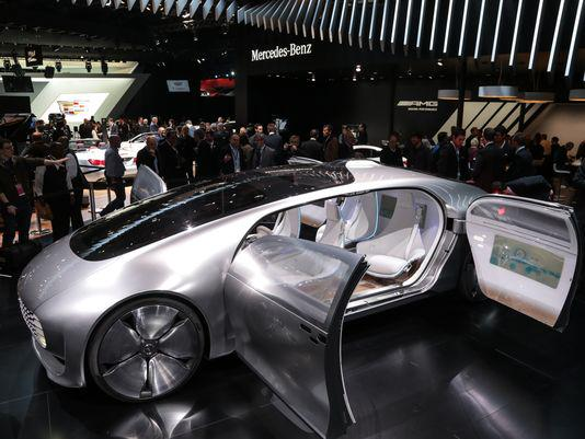 Mercedes F015 Concept Car. Mercedes said it expects to release 10 new SUV models by 2017. http://t.co/AgovmoILOU