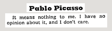 In 1969, The NYT asked Picasso what he thought of the moon landing. Priceless: http://t.co/T4M9s0XBRV http://t.co/1Lpi09oq8l