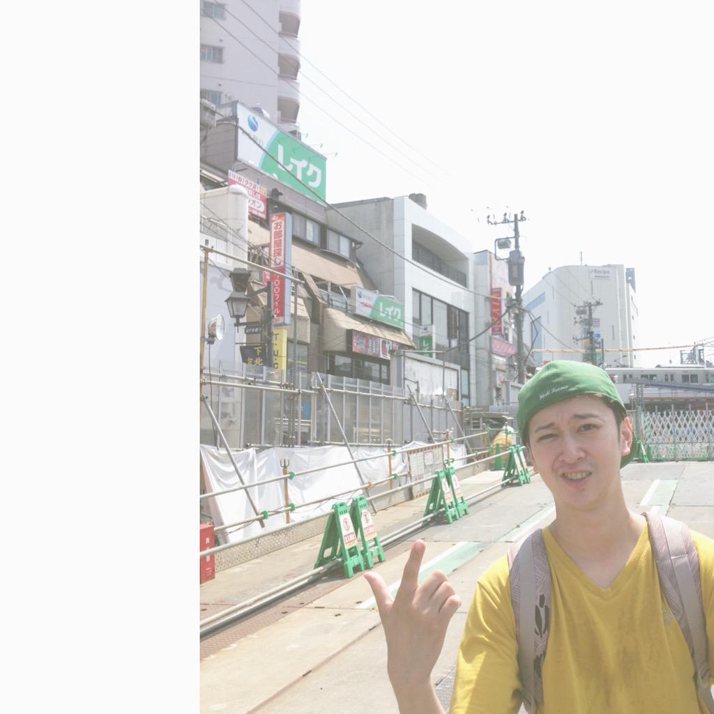 灼熱の北沢でKEYTALK / Alaska Jam 武正氏に遭遇。タケ マサシ http://t.co/O1FcHsnPtu