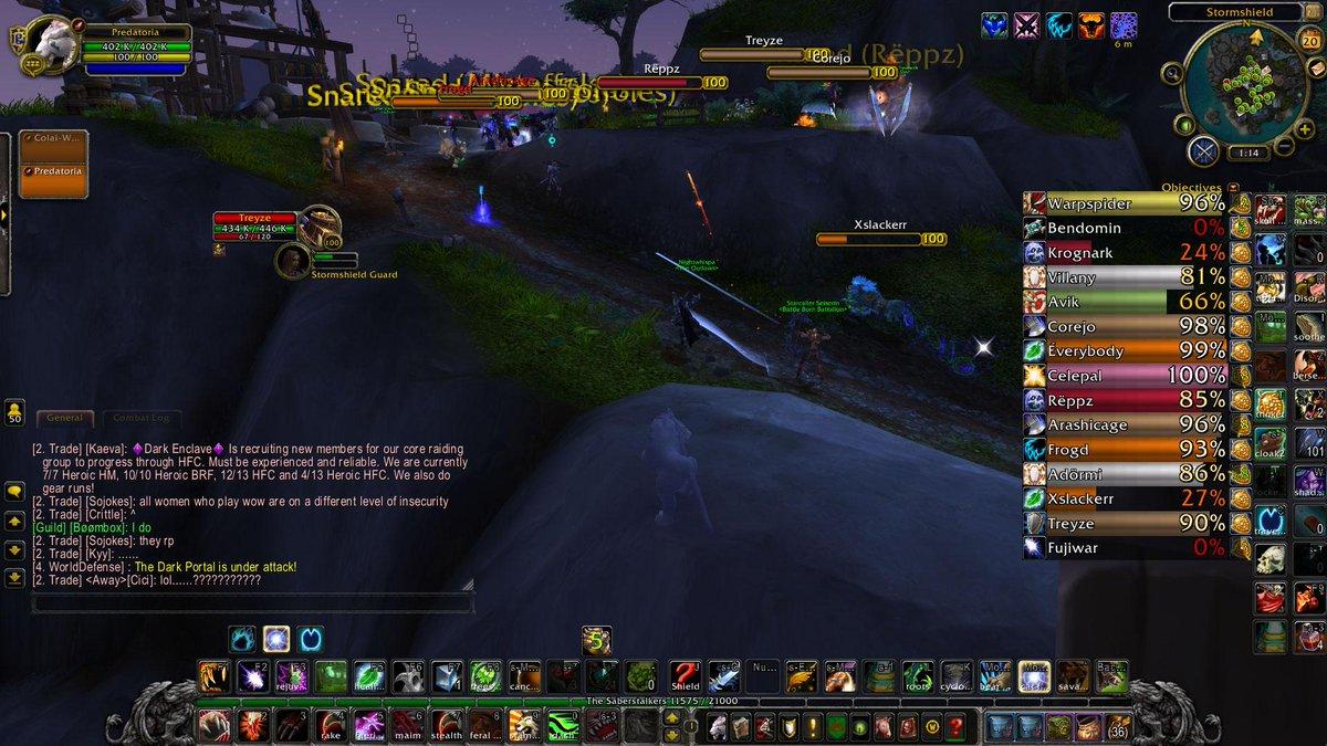 Battleground Targets / Gladius for World PvP - World of