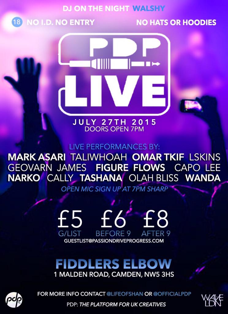 If your in London next week Monday, I'm hosting PDP LIVE with this great line up