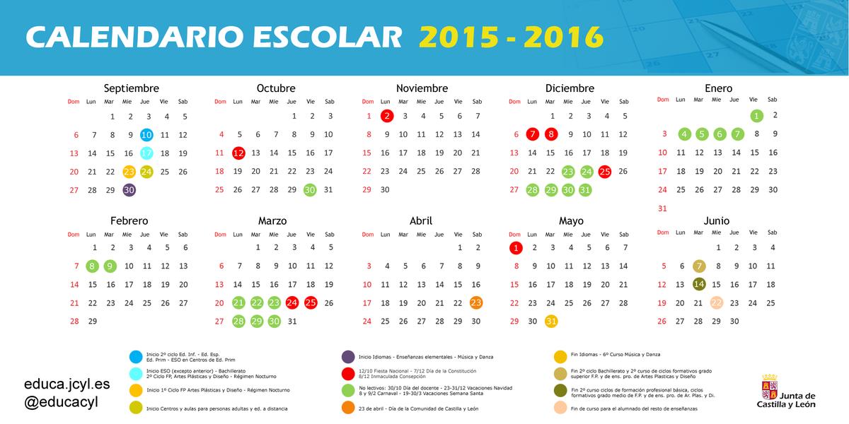 Calendario Educacyl.Salud Jcyl On Twitter Calendario Del Proximo Curso Escolar De