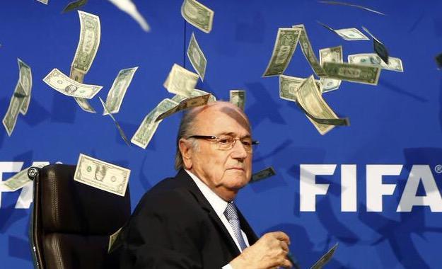 FIFA's Sepp Blatter Raining Dollars