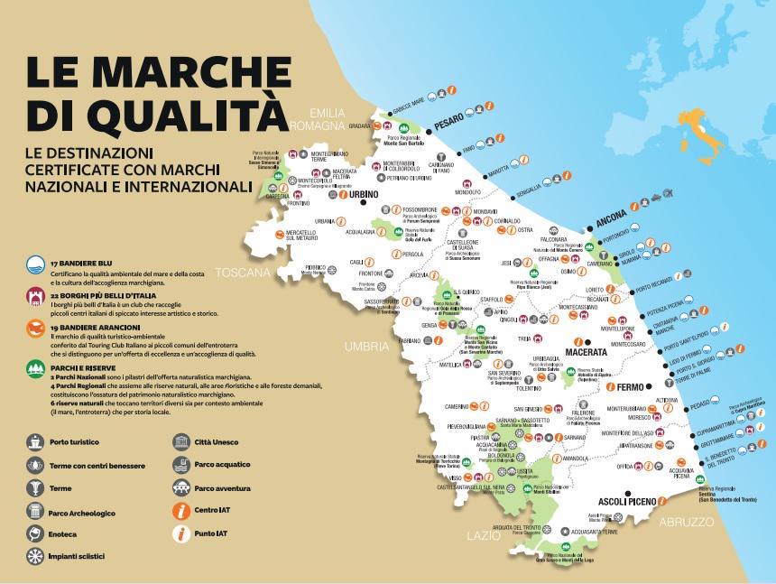 Immagini Cartina Marche.Marche Tourism Ar Twitter Mappa Delle Marche Di Qualita Tutte Le Destinazioni Certificate Con Marchi Naz Li Ed Int Li Http T Co Lytv6nddxk Http T Co Pvxerzyzpr