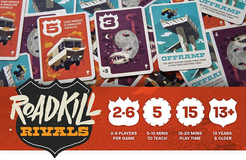 Our Kickstarter project, Roadkill Rivals is live!!!