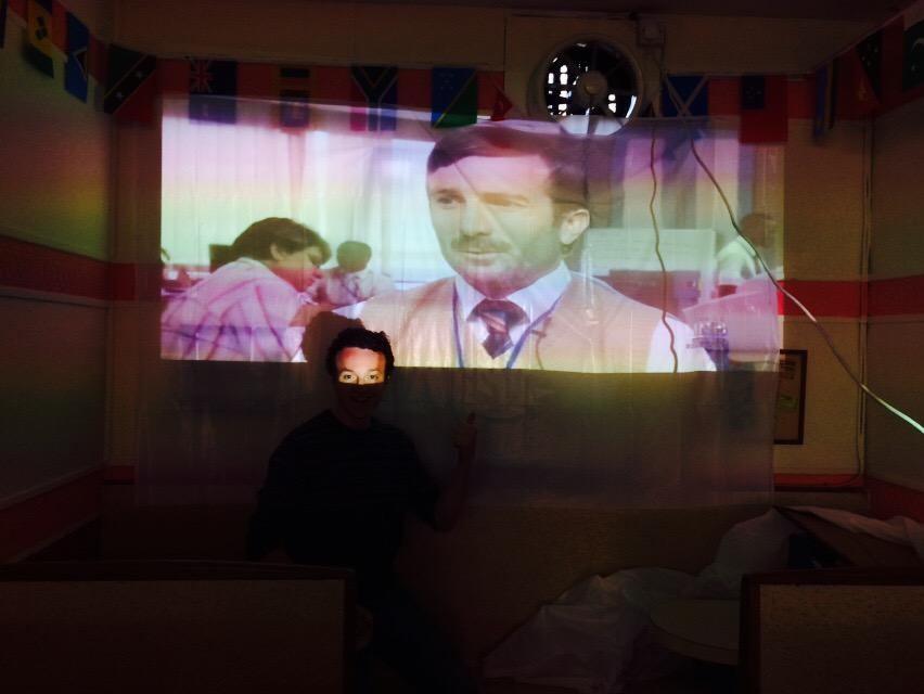glasgow artists on twitter projector test at val doro cafe luigi was awesome as always and heres ewan in district 9 - Flat Panel Cafe 2015