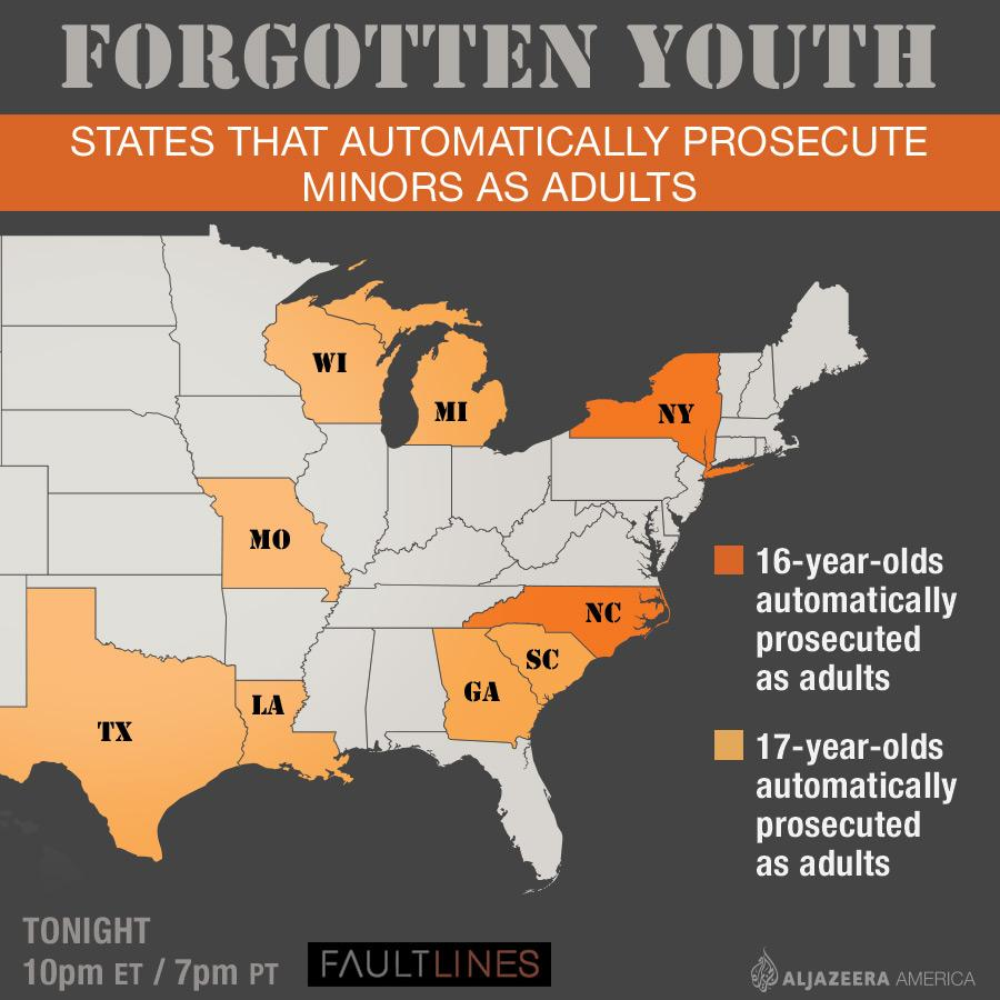 "Map: How young is too young to go to prison? via @sw4mi   ""Forgotten Youth: Inside America's Prisons"" at 10p E http://t.co/BUtTDGUzmh"