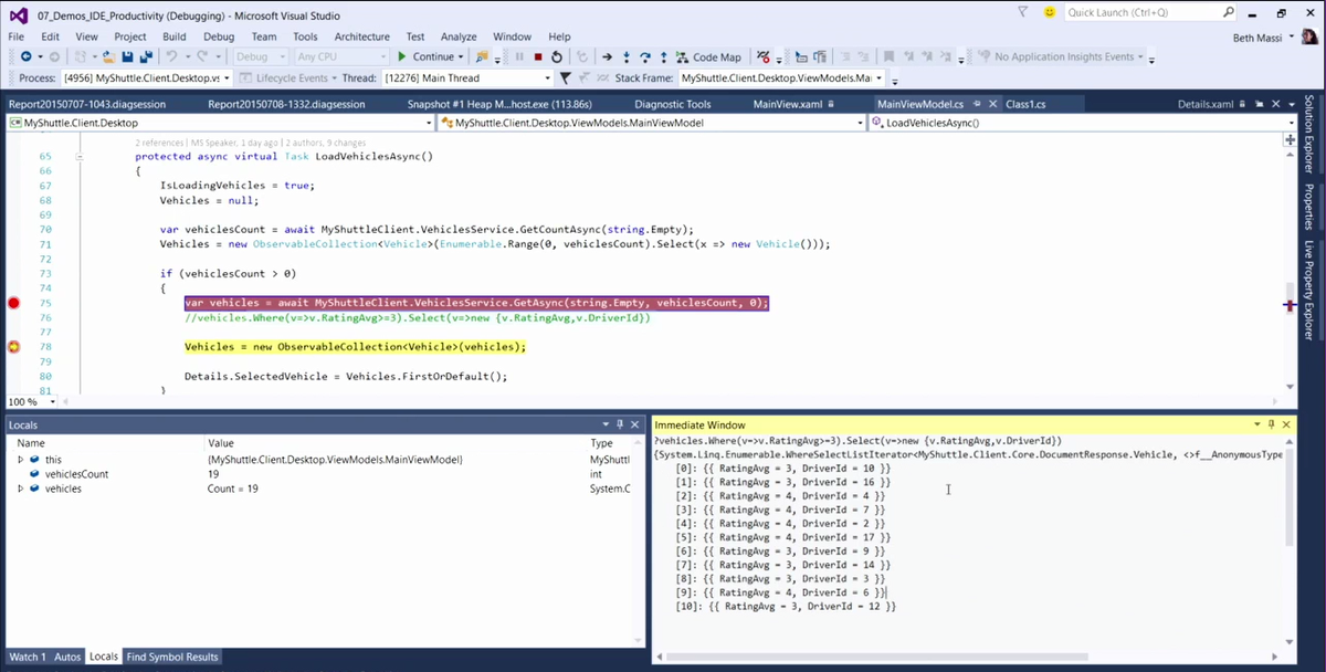 VS2015 new features : Lambda debugging ! #vs2015 http://t.co/bf1IFQmG69