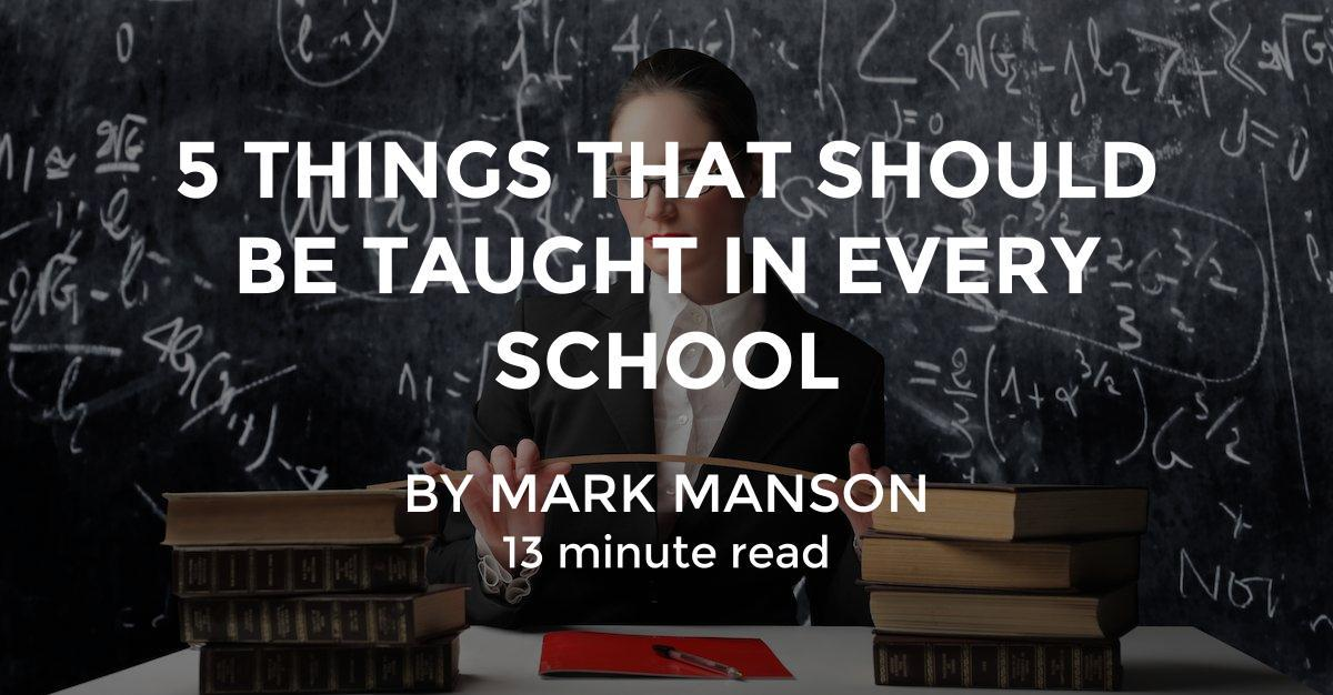 why pe should be in every school essay Instead, this is what should be taught in school 5 things that should be taught in every school july 20, 2015 february 27, 2018 13 minute read by mark manson.
