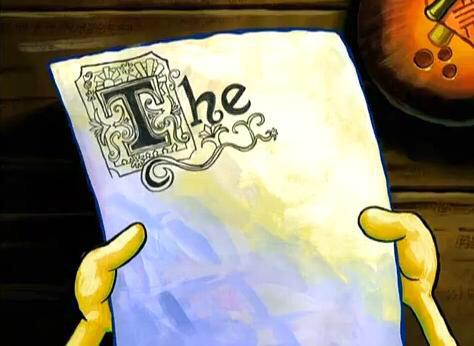 spongebob writing paper