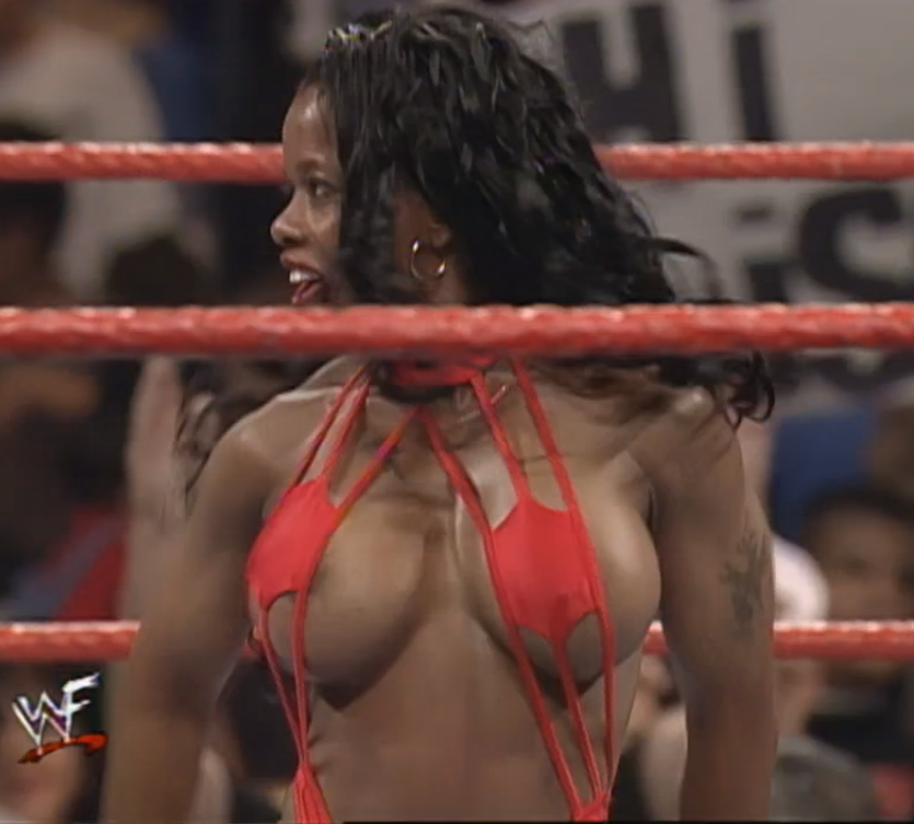 Wwf Wwe Jacqueline's Big Boobs And Hot Ass In Amazing Bikini On Make A Gif