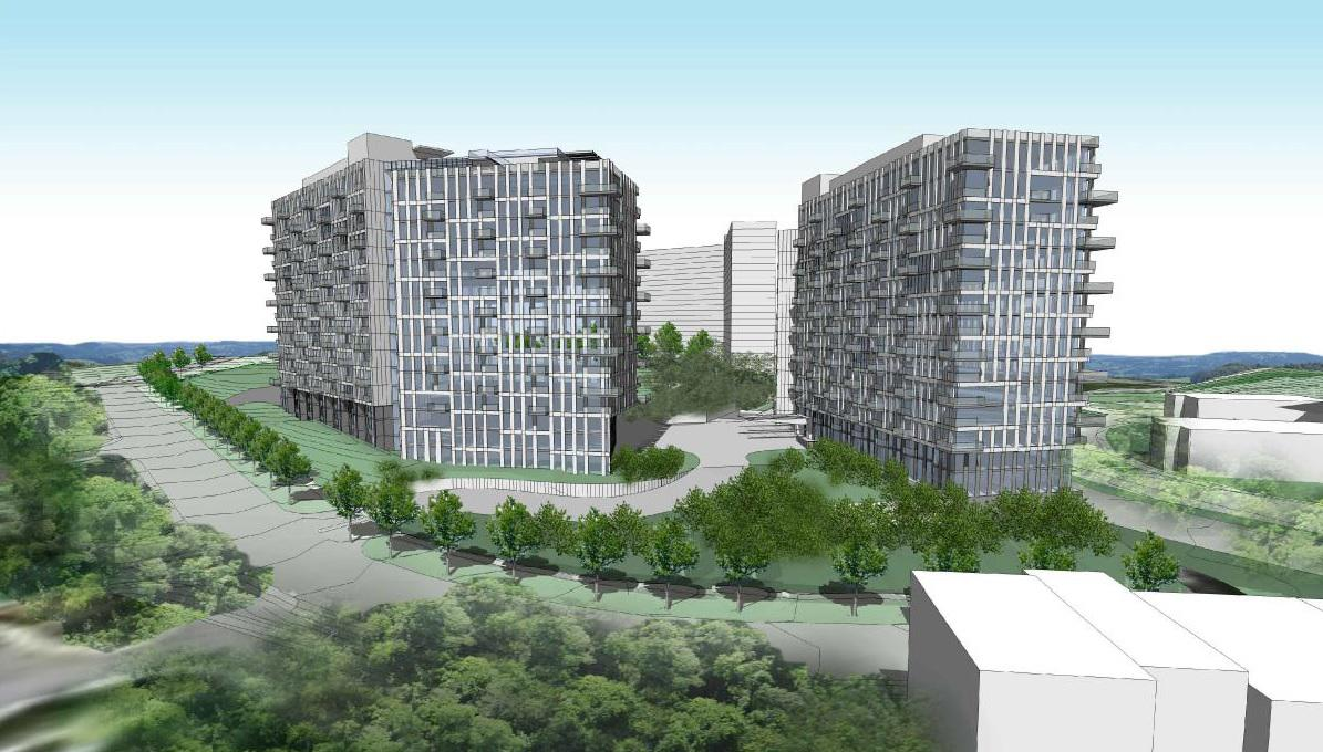 New Images Show Apartment Towers Proposed For Pooks Hill In Bethesda T