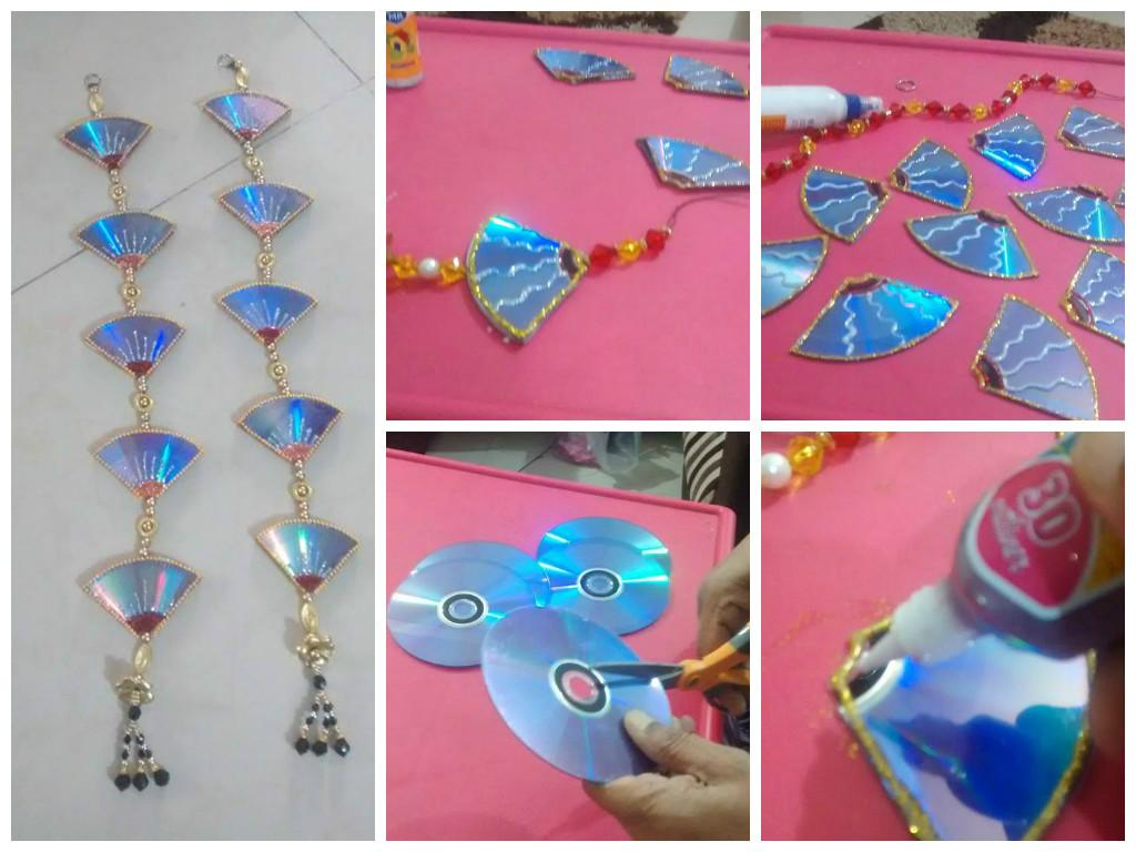 Simple Craft Ideas On Twitter Door Hanging From Waste CD Easy