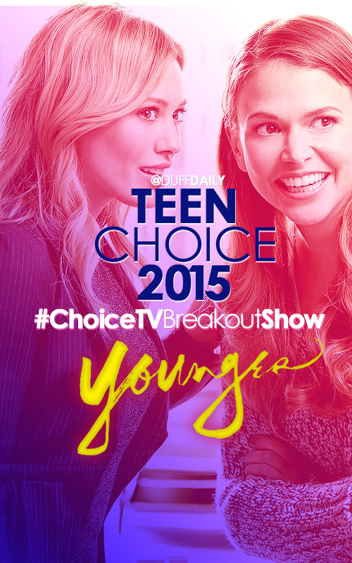 RETWEET to vote for @YoungerTV as #ChoiceTVBreakoutShow at the #TeenChoice Awards! #Younger http://t.co/LZDv8tPaDo http://t.co/oux5m7hFgb