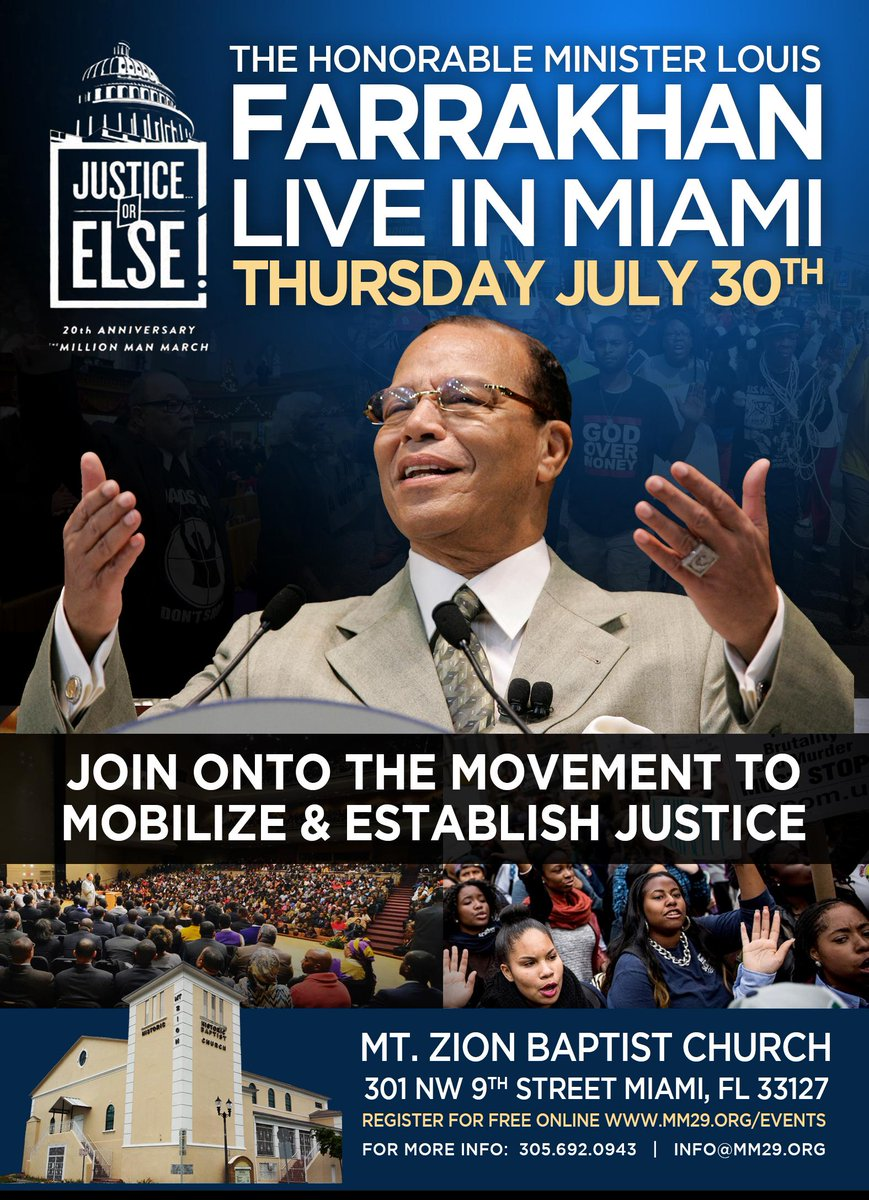 July: Miami: I will be speaking there on July 30 at Mount Zion