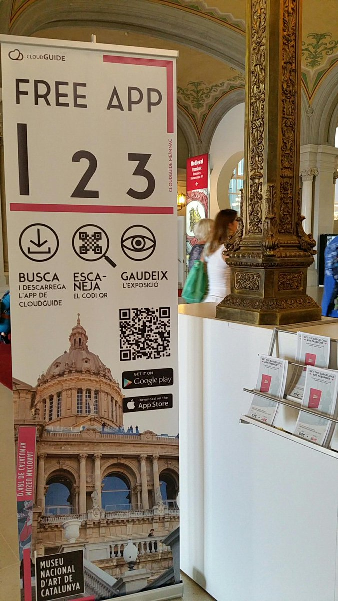 big bold #museumphonesigns example for @CloudGuideMe at @MuseuNac_Cat. Thanks again to @innova2 http://t.co/kGgLu48RpM