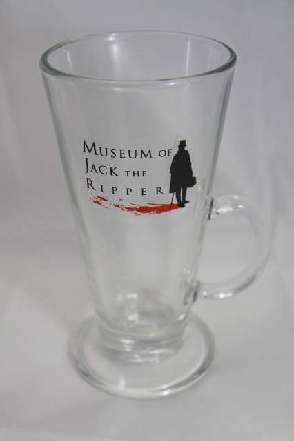 Bloody glass, sold at Jack the Ripper Museum
