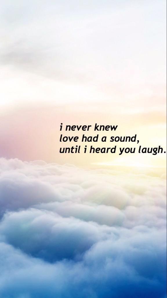 Lockscreens On Twitter  F F C Bi Never Knew Love Had A Sound Until I Heard Your Laugh Free Quote Lockscreen F F C B Rt Fav If You Use Or Save F F  A