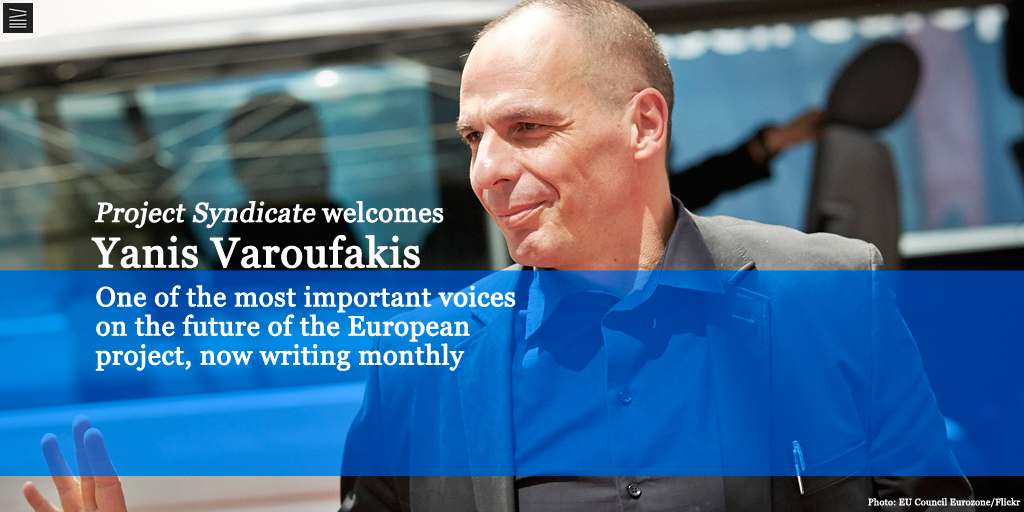 Big news! We're launching a new monthly column series by @yanisvaroufakis. Read his latest http://t.co/rGxFExM3iO