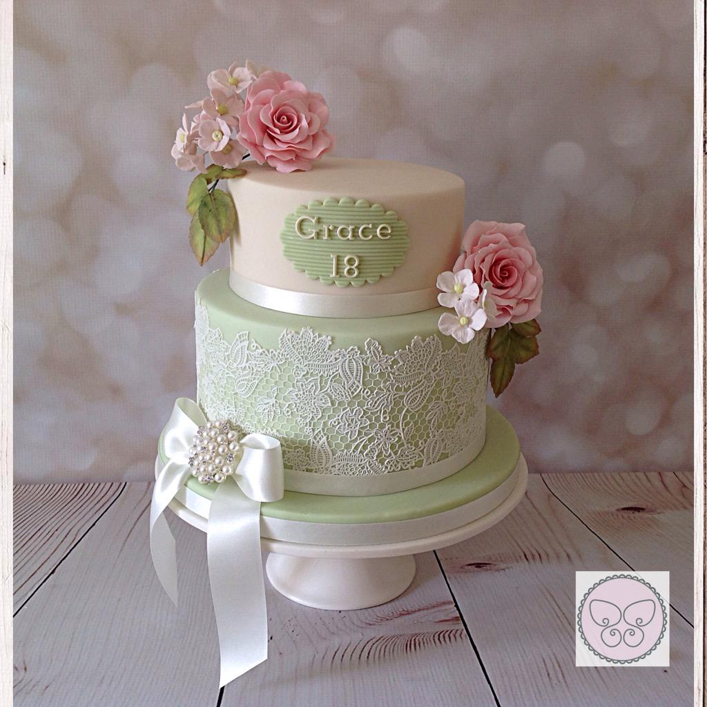 Susan Street On Twitter Vintage Style 18th Birthday Cake 18th