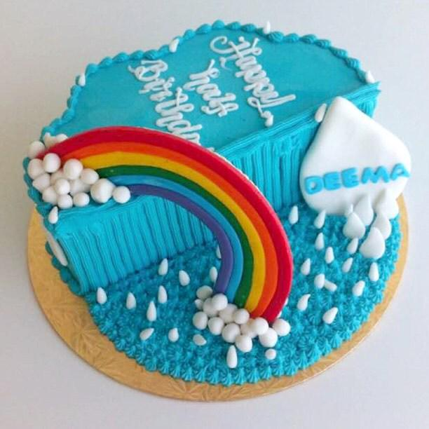Stupendous Crumbs On Twitter Rainbow Half Birthday Cake So Cute Funny Birthday Cards Online Drosicarndamsfinfo