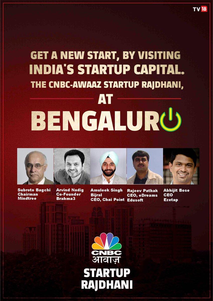 "CNBC-AWAAZ on Twitter: ""#Startup Rajdhani Bengaluru @ 5 startup ..."