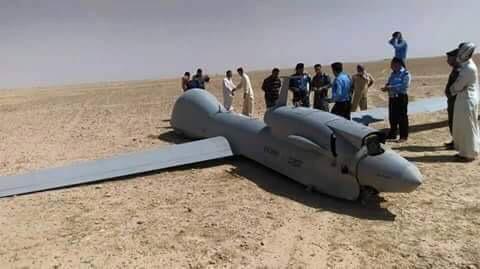 سقوط طائرة امريكية في صحراء السماوة