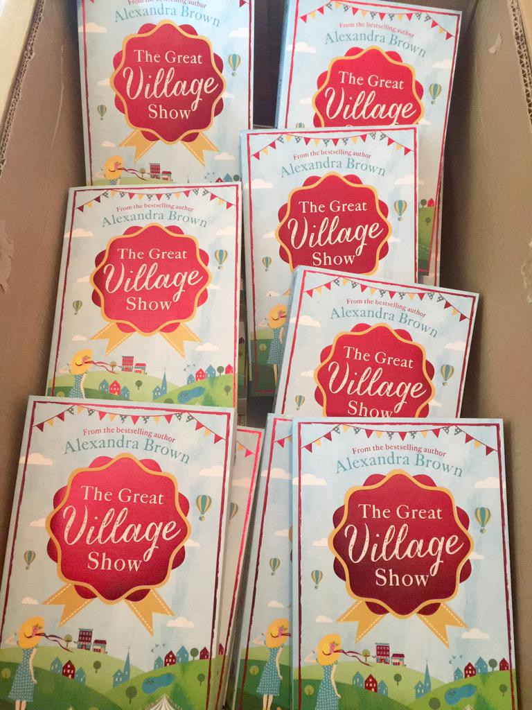 Oooh, look what just arrived! #TheGreatVillageShow out #30Jul & to celebrate I'm giving away a signed copy. RT to WIN http://t.co/Ri8RA1tttR