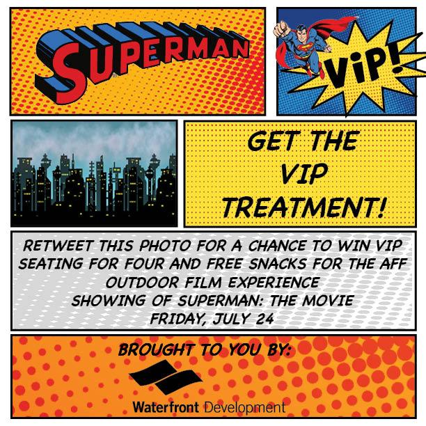 CONTEST: Retweet to win 4 VIP seats and free snacks for this Friday's showing of Superman on the #Halifax waterfront! http://t.co/aaWRAiOPzq