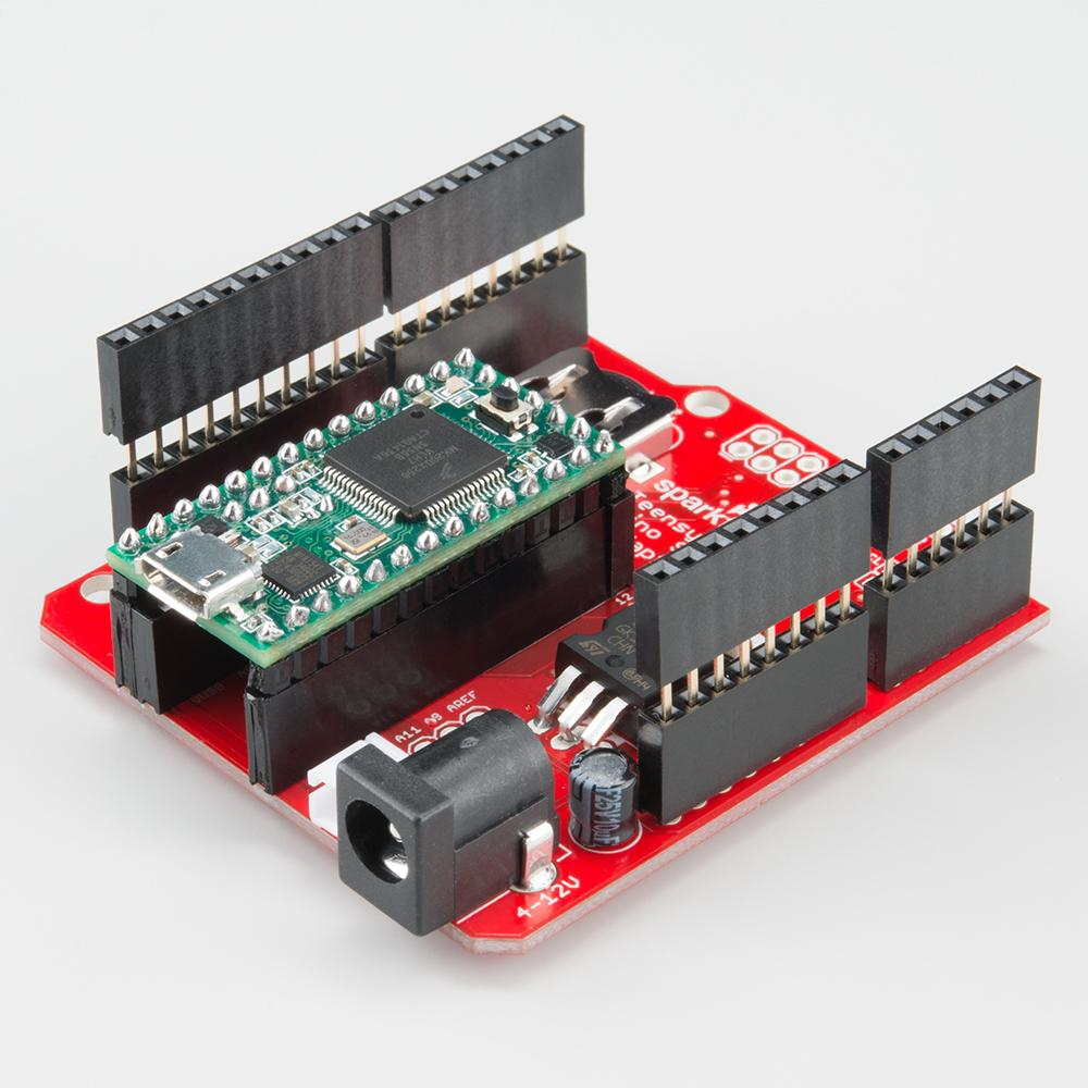 ... and more. https://www.antratek.com/teensy-arduino-shield-adapter …  https://learn.sparkfun.com/tutorials/teensy-arduino-shield-adapter-hookup- guide … ...
