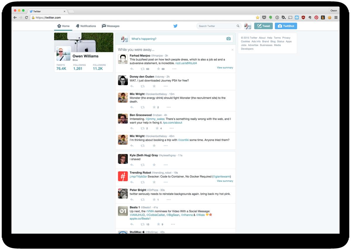 Twitter pierde color, dice adiós a los fondos de pantalla
