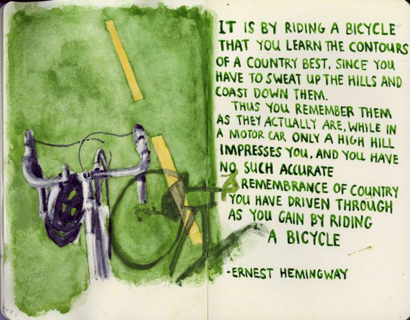 Today is Ernest Hemingway's birthday. He rode bikes. http://t.co/wAwCfzjmI9 http://t.co/AOwS9OknFV