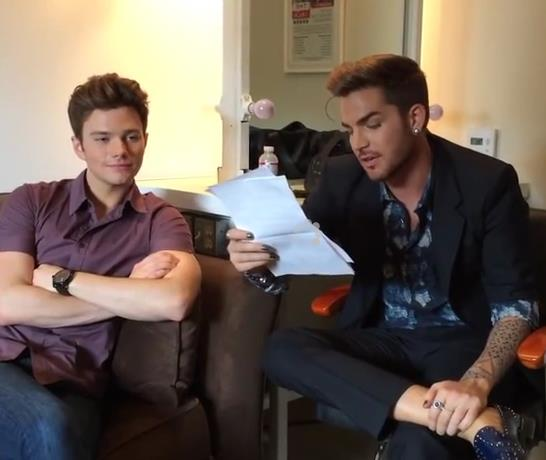 "System Overload! @adamlambert  And @chriscolfer  On ""The Talk"" Too.Much.Fabulous http://t.co/PFiwZpR27V http://t.co/lq9B1rZfXQ"