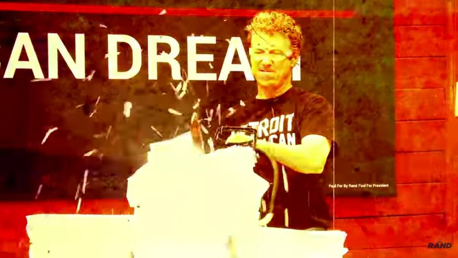 Watch Rand Paul chainsaw the tax code—for liberty http://t.co/tFEPXao0Fq http://t.co/U3vBNtwaLn