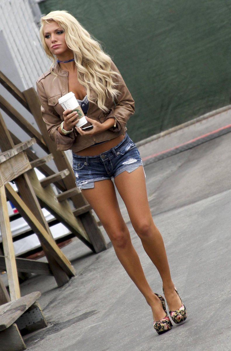 Hot Blonde In Short Shorts 23